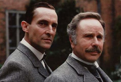 Jeremy Brett (left) and Edward Hardwicke as Holmes and Watson
